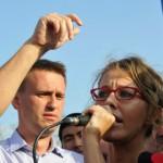 Собчак и Навальный задержаны у Никитских ворот