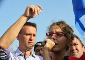 Sobchak i Naval'nyj zaderzhany u Nikitskih vorot