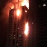 В Дубае сгорел небоскреб