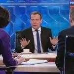 Интересные подробности прямого эфира Медведева