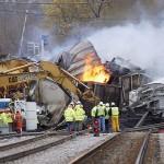 В Америке сошел с путей поезд с ядовитыми химикатам, есть потерпевшие
