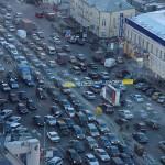 Колоссальная пробка в столице