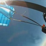 Экстремал спасся при неисправном парашюте