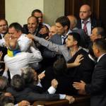 Верховной Раде подрались оппозиционеры и представители партии власти