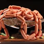 Не «детские» сосиски и колбасы на прилавке