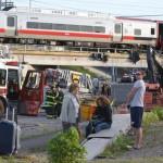 В США столкнулись два поезда. В результате инцидента пострадали 60 человек.
