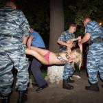 Лукашенко впервые за три года посетил Украину и был атакован активистками Femen