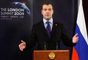 BRITAIN-RUSSIA-G20-MEDVEDEV
