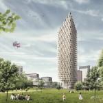 Деревянный небоскреб - сложный и необычный проект Стокгольма