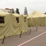 В Москве был устранен палаточный лагерь сотрудников МЧС
