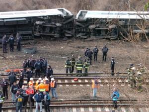 Американские следователи считают, что поезд сошел с рельс по вине машиниста