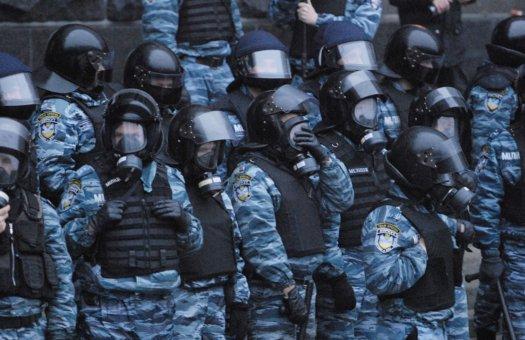 Сотрудники «Беркут» наводят порядок на Банковой