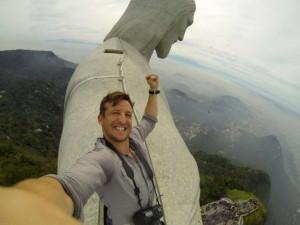 Первое селфи в Рио, на вершине статуи Христа Спасителя