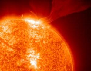 На солнце зафиксировано девять вспышек