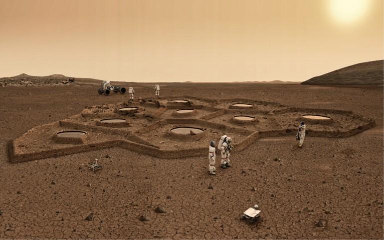 В NASA разрабатывают проекты марсианских домов